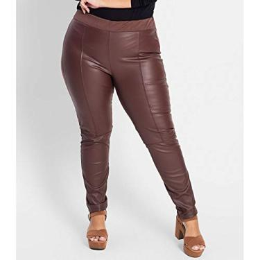 Legging Feminina Plus Size Secret Glam Marrom Plus GG