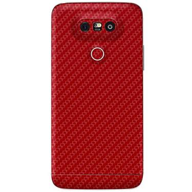 Adesivo Skin Premium Fibra de carbono LG G5 (Vermelho)