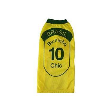 Camiseta do Brasil - Tam. 8 - Bichinho Chic