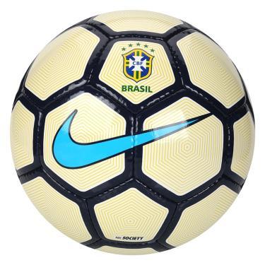 Bola Futebol CBF Society Nike - Branco Amarelo Azul 4dce40b8f13a5