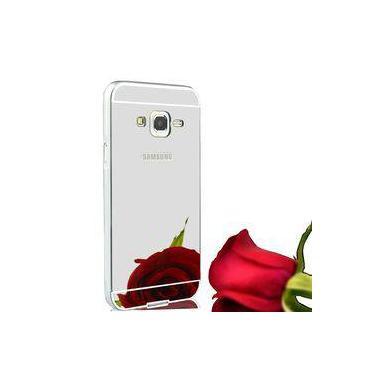 fcdc9f66e Capa Case Bumper Espelhada Luxo Para Samsung Galaxy J7 J700 Prata