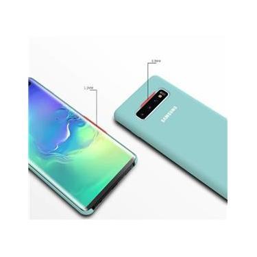 Capa Samsung Galaxy S10 Plus Tela de 6.4 Polegadas Silicone Cover Anti Impacto Verde