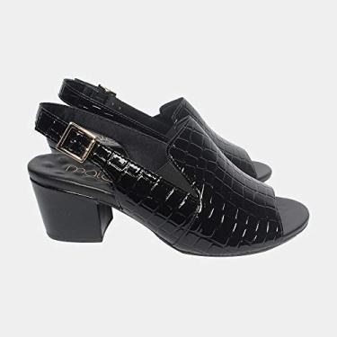 Sandália de Santo Bloco Malu Super Comfort Raquel Feminino Preto 38