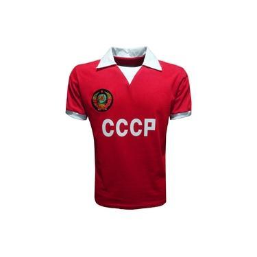 Camisa Liga Retrô Cccp 1980 (união Sóvietica / Rússia)