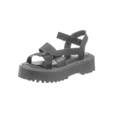 Sandalia Plataforma Gigil Papete Flatform Preto  feminino