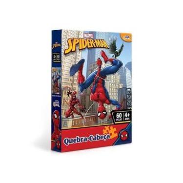Imagem de Quebra Cabeça 60 Peças Marvel Homem Aranha 8012 - Toyster