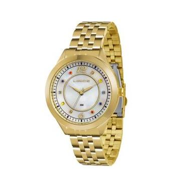 Relógio Feminino Analógico Lince Pulseira em Aço 3ATM LRG4324L B2KX -  Dourado d41704b4c9