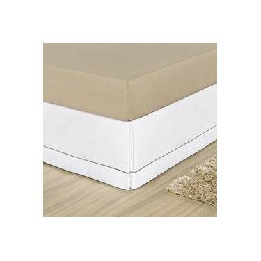 Imagem de Saia para Cama Box Casal Queen 1 Peça Branco