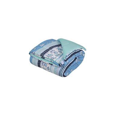 e5d0658c9a Edredom Solteiro Lynel Monsters Azul 1.6 M x 2.4 M Pacote de 1 Malha