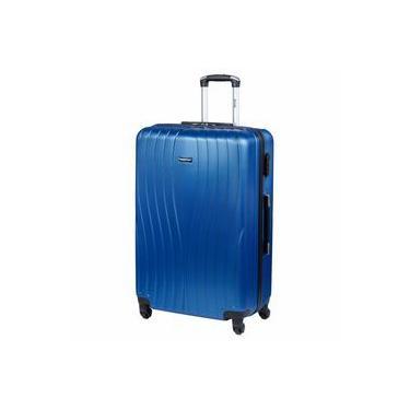 Mala Viagem Grande Azul Abs C/carrinho 360° Zigma Sestini