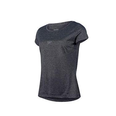 Speedo Blend Camiseta de Manga Curta, Mulheres, Preto, M