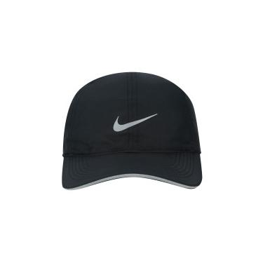 Boné Aba Curva Nike Featherlight Run - Strapback - Adulto - PRETO Nike fcf6bbd3c46