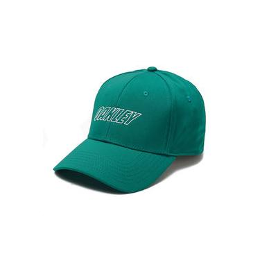 Boné Oakley 6 Panel Waved Hat Verde Água