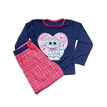 Pijama Infantil Inverno Cós Largo - Infal016-marinho-gg