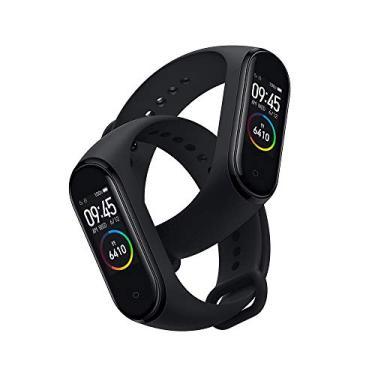 Kit 2 (Duas) Smartwatch Xiaomi Mi Band 4 Oled Preto Original Lacrado - Versão Global
