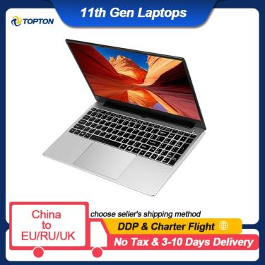 Imagem de Notebook de 15 polegadas, intel core i7 1165g7 i7 10510u, ultrabook max 32gb ram 2tb ssd, laptop