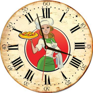 64c543cd745 Relógio de Parede Estilo Rústico Chefe Cozinha 30 cm