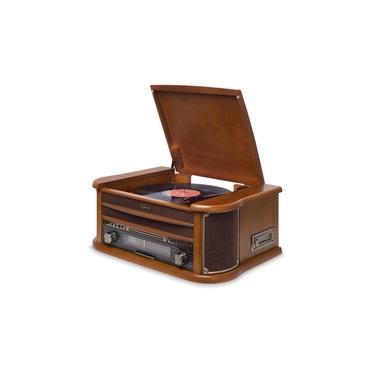 Vitrola Toca Disco e Toca CD Fita Kt Raveo Opera Bluetooth Radio