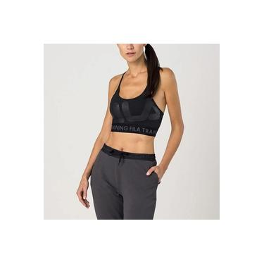 Top Fila Train Elastic Feminino - Preto