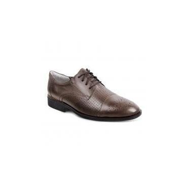 Sapato social para pés largos masculino derby sandro moscoloni aston marrom (edmonds) brown - 43 -