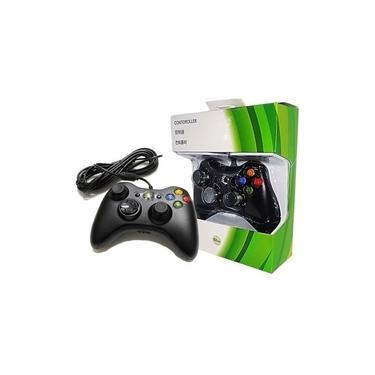 Controle Manete Com Fio Xbox 360 Pc Slim Joystick