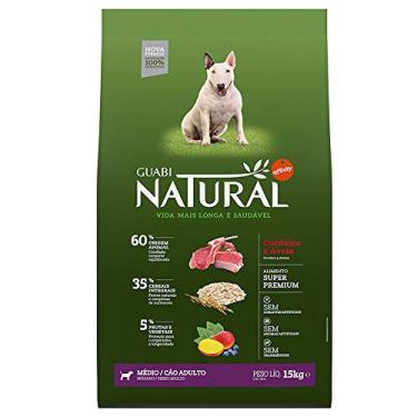 Ração para Cães Adultos Guabi Natural Raças Médias Sabor Cordeiro e Aveia 15Kg