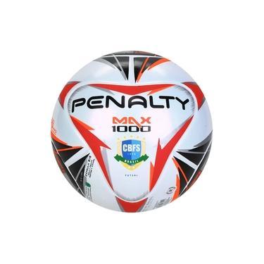 Bola De Futsal Penalty Max 1000 X - Branco e Preto