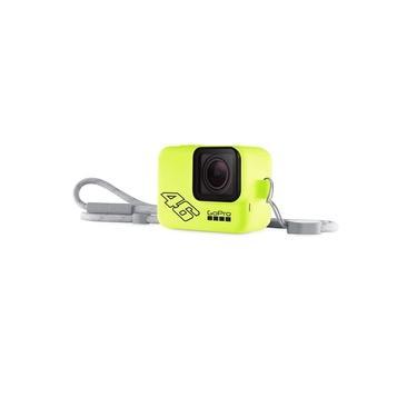 Capa de Silicone + Cordão GoPro Sleeve Amarelo Neon