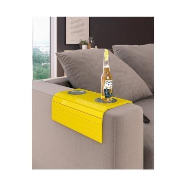Esteira 2 Copos Externo Grande Portal Acessórios - Amarelo