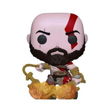 Imagem de Funko Pop! God of War Kratos with The Blades of Chaos Exclusive Figure 154 GITD Glow in The Dark**funkofilia store**