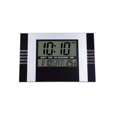 dccc944c900 Relógio De Parede Digital Com Temperatura Data E Despertador Kenko Kk-5850