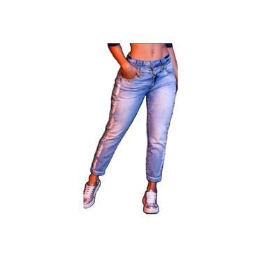 39313 Calça Boyfriend Cropped Pit Bull jeans