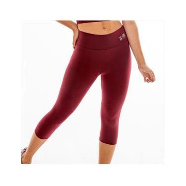 Imagem de Calça legging M corsário fitness academia BYG Ring Marsala