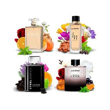 Imagem de Kit 4 Perfumes Importados La Rive Masculino e Feminino