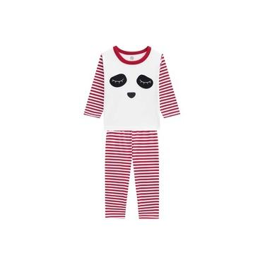 Pijama Infantil Menino Camiseta E Calça M/Malha Creme Brandili-3