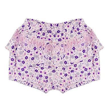 Shorts Look Jeans Floral Lilás - LILAS - G