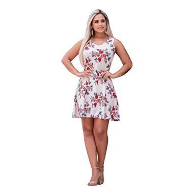 Vestido Feminino Midi Festa Rodado Social Moda Evangelica (GG/42-44, Estampa 01) - WY2817