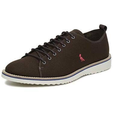 Sapato Casual Paul Masculino Reserva Lona Mistral Café, 40