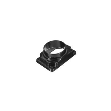Placa de adaptador de filtro de admissão de sensor de fluxo de ar em massa preto para mitsubishi v6 l4 adap-053-786-f1