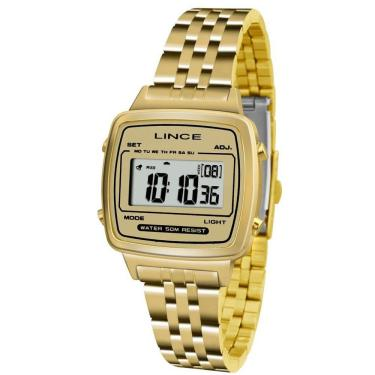 212862f560a Relógio Feminino Lince Digital Sdph041l Bckx Dourado