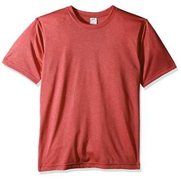 Imagem de Camiseta masculina UltraClubs Ultc-8619-cool & dry Heather Performance, Red Heather, Small