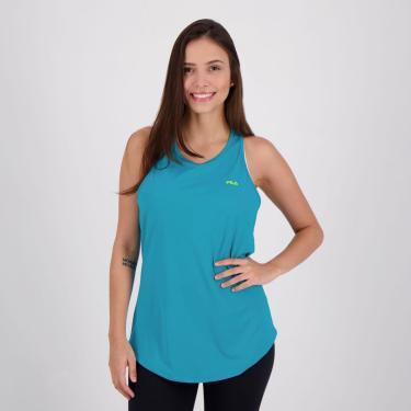 Regata Fila Basic Sports Feminina Azul Claro - G