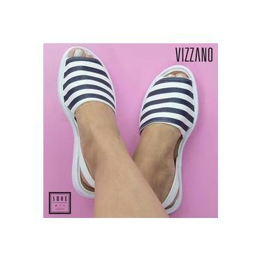 Sandalia Avarca Vizzano Branco/Marinho/Branco Feminino 6280-100-14217