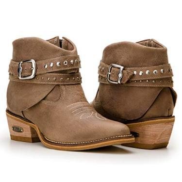 Bota Feminina Country Texana Capelli Boots Em Couro Bordado (40, Rato)
