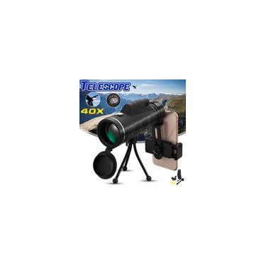 40X60 HD Óptico Monocular Caça Camping Caminhadas Telescópio com Tripé Bússola