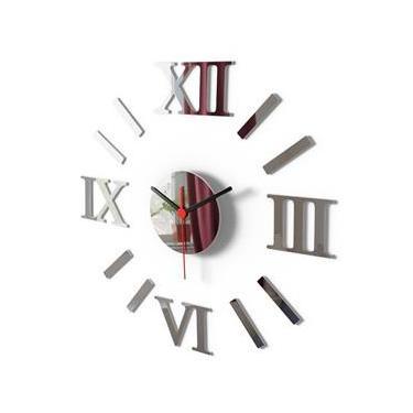 Relógio De Parede Romano Grande Espelho Sala Cozinha w