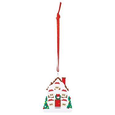 Imagem de BESPORTBLE Tema de Natal Enfeites de Árvore de Natal Decorações Acessórios Do Carro Alpaca Forma Apropriado para Festas de Natal Do Boneco de Neve Bonito (Cinco Pessoas)