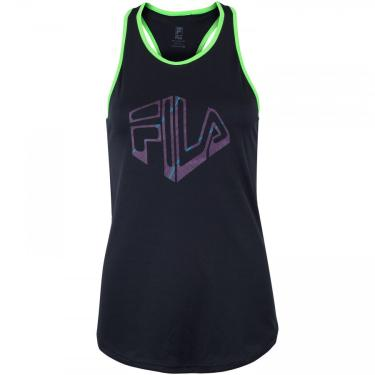 Camiseta Regata com Proteção Solar UV Fila Run Silva - Feminina Fila Feminino