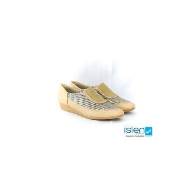 Sapato Usaflex Z1011/50 Dourado Blush Campanha Outono/inverno