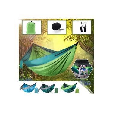 Cama de Casal Solteiro para Adultos Redes Cama de Dormir, Camping, Cama para 2 pessoas, Tenda, Caminhada, Viagem, Suporte ao ar livre com 2 alças, 2 carabiner Serafinee